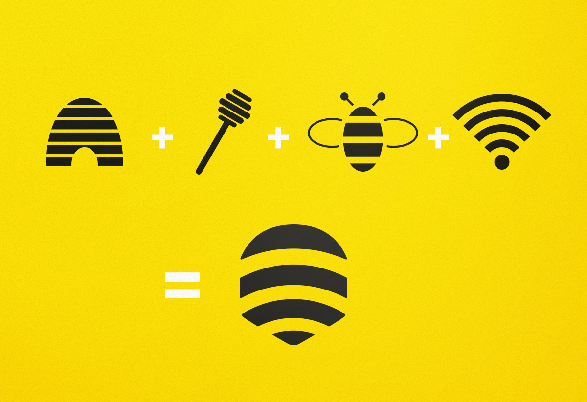 logo design Bee Connect