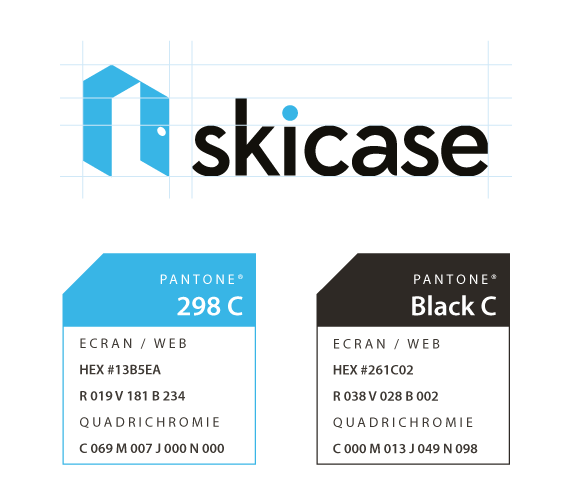 skicase conception logo design